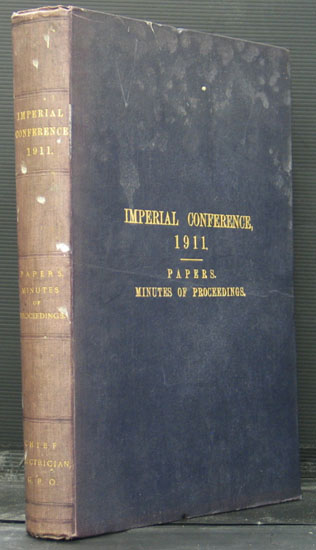 Minutes of Proceedings of the Imperial Conference 1911
