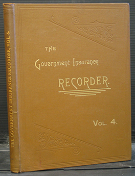 The Government Insurance Recorder Volume 4