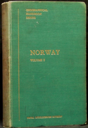 Norway - Volume 1 Only - Geographical Handbook Series - B.R. 501