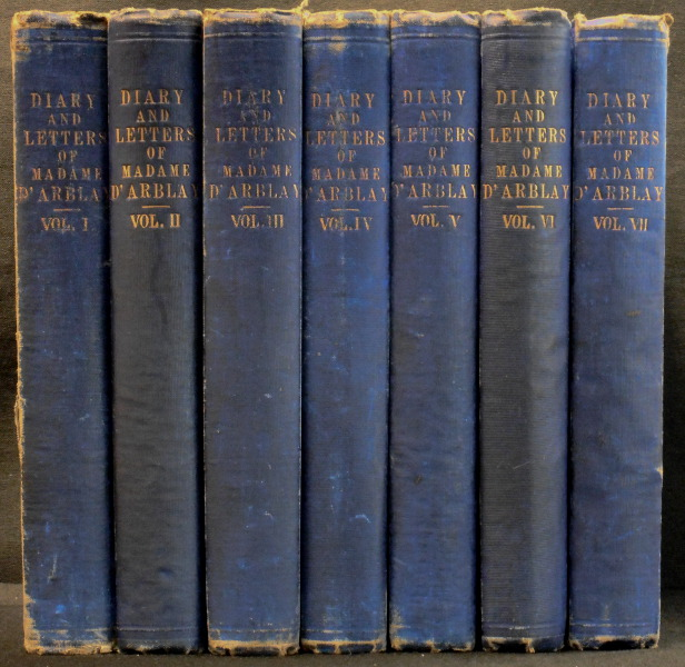 Diary and Letters of Madame D'Arblay (7 Volumes)