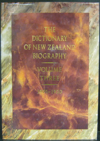 Dictionary of New Zealand Biography - Vol 3 1901 - 1920