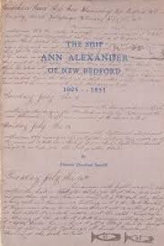 The Ship Ann Alexander of New Bedford 1805-1851