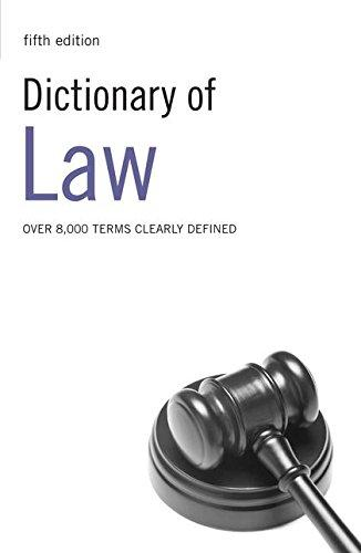 Dictionary of Law - Fifth Edition