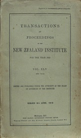 Transactions and Proceedings of the Royal Society of New Zealand Vol 45