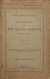 Transactions and Proceedings of the Royal Society of New Zealand Vol 46