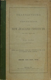 Transactions and Proceedings of the Royal Society of New Zealand Vol 47