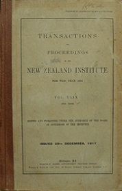 Transactions and Proceedings of the Royal Society of New Zealand Vol 49