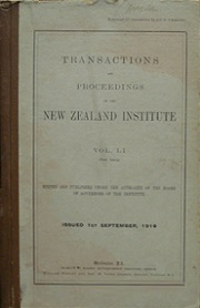 Transactions and Proceedings of the Royal Society of New Zealand Vol 51